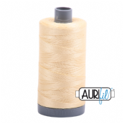 Aurifil 28 Cotton Thread - 2105 (Creamy Yellow)